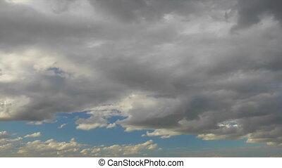 vol, sur, nuages, loop-able, animation