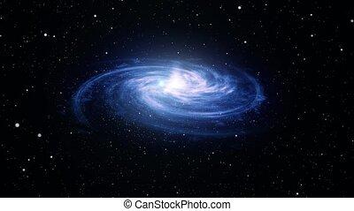 vol, tourner, fond, galaxy., résumé, spirale