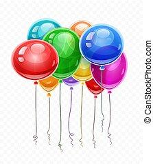 volando alto, compleanno, palloni, aria