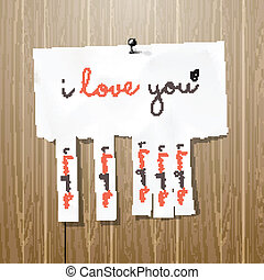 volantino, lei, amore, annuncio pubblicitario, scritto mano