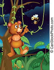 volare, albero, orso, ape