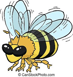 volare, cartone animato, ape