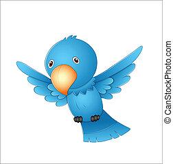 volare, cartone animato, uccello