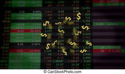 volare, dollari, su, mercato, citare