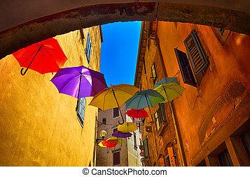volare, ombrelli