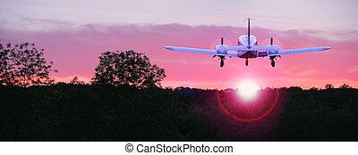 volare, tramonto