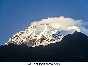 volcán,  antisana, nieve,  Ecuador, Terminar
