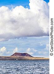 volcán, en, fuerteventura