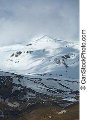 volcán, eyjafjallajokull, gorra, islandia, hielo