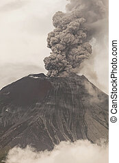 volcan, éruption, tungurahua, puissant