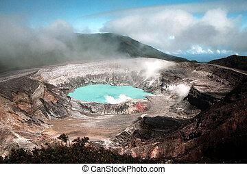 Volcan 2 - Poas volcano acid lake in Costa Rica