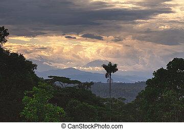 volcan, amérique, sangay, sud