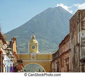 volcan, de, agua, antígua guatemala