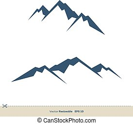 volcan, gabarit, conception, vecteur, logo, illustration, montagne