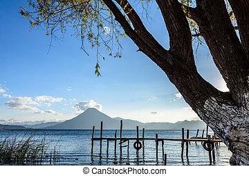 volcan, guatemala, lac atitlan