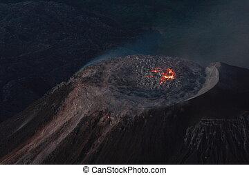 volcan, santiaguito, guatemala