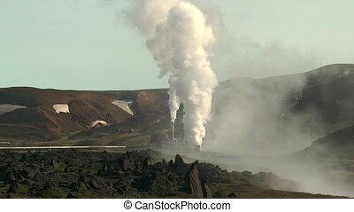 volcanic area at krafla power stati