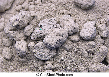 Volcanic Ash - A macro view of volcanic ash showing its...