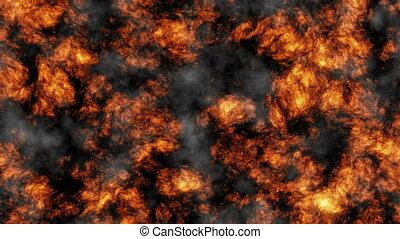 volcanic ash and smoke