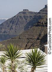 volcanic cliffs santorini