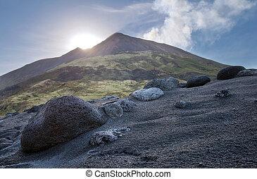 Volcanic island of Stromboli