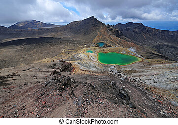 Volcanic landscape, New Zealand