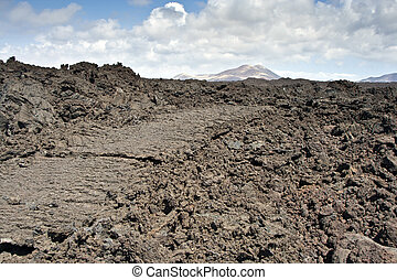 volcanic landscape  - Under the volcano