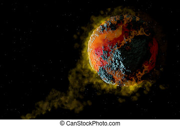 Planet cataclysm - Volcanic Planet cataclysm. Science...