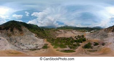 volcanic plateau Indonesia Dieng Plateau - vr360 plateau...