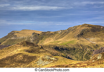 Volcanic plateau situated in The Central Massif in France.