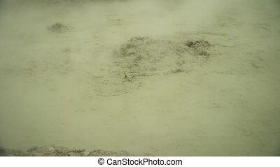 volcanic plateau with mud volcano I - mud volcano Kawah...