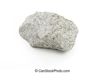 volcanic rock isolated over white