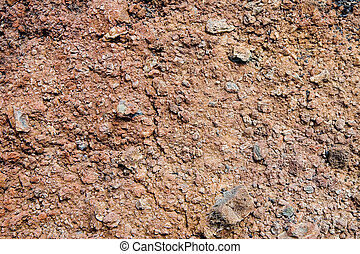 Volcanic soil in Lanzarote, Canary Islands, Spain
