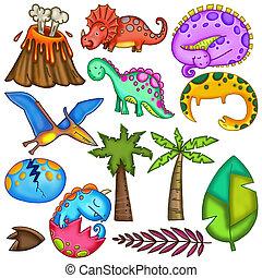 Volcanic Vibrant Dinosaur Jungle Monsters
