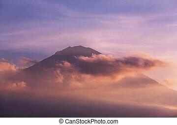 Agung - Volcano Agung and Amed beach, Bali, Indonesia