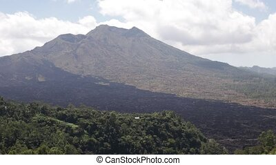 Volcano Batur on a trpoical island of Bali, Indonesia.