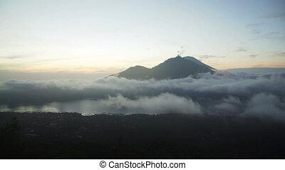Volcano Batur surroundings in bali