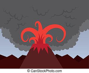Volcano Bursting