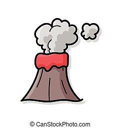 volcano doodle