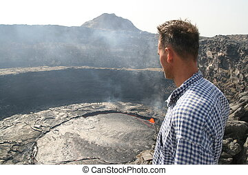 Volcano Erta Ale in Ethiopia