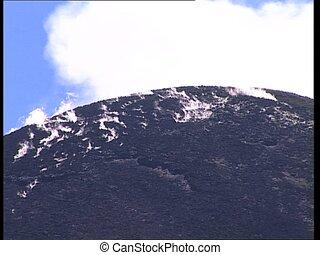 VOLCANO erupting plumes of smoke cu