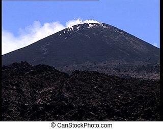 VOLCANO erupting plumes of smoke LS