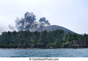 Volcano eruption. Anak Krakatau