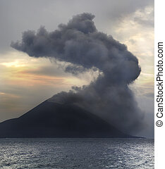 Volcano eruption.  Krakatau