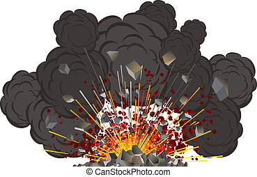 Volcano eruption -vector isolated illustration