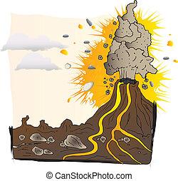 volcano - vector