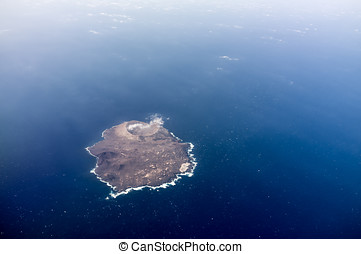 Volcano Island - aerial view of volcanic island Isla de...