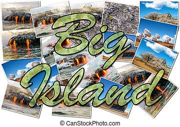 Volcano kilauea collage