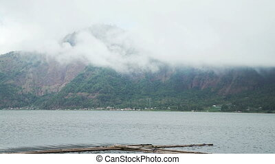 Volcano mount and lake Batur located in Kintamani area in...