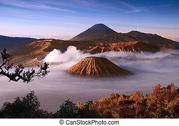 Volcano. - Mount Bromo volcanoes taken in Tengger Caldera, ...